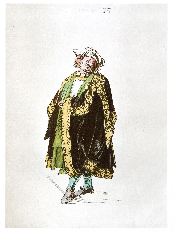 Albrecht Dürer, Oberdeutsche Schule, Entwurf, Hoftracht, Kostüm, Renaissane