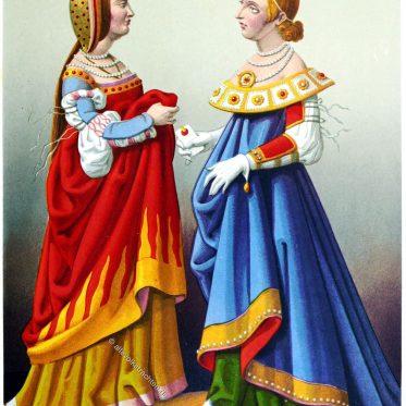 Frauen aus der Lombardei und Venedig, Italien 15. Jh.