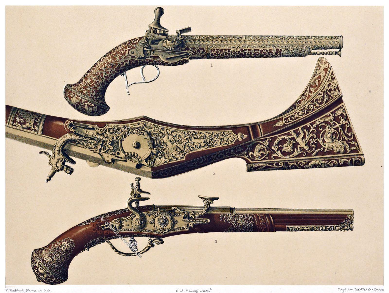 Lazzarino Cominazzo, Pistolen, Duell, Barock, Italien, Waffenkunst
