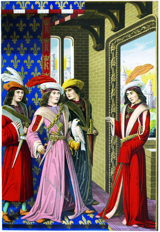 Würdenträger, Karl VIII, Mittelalter, Gotik, Frankreich, Kostüme, Mode