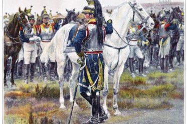 Édouard Detaille. 7me Cuirassiers, Officier superieur, Tenne de campagne