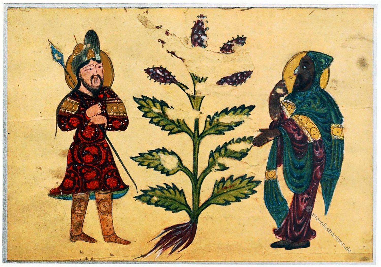 Handschrift, Arabische Kleidung, Mesopotamien,