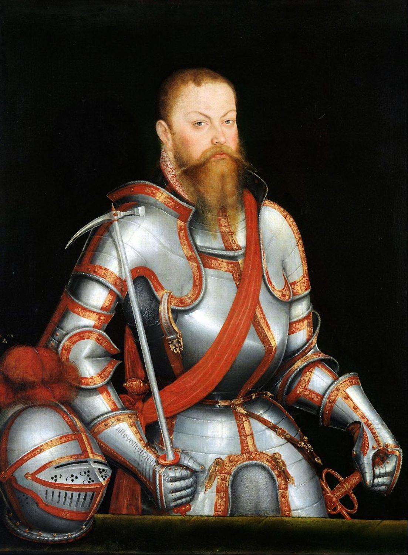 Lucas Cranach, Kurfürst Moritz von Sachsen , Rüstung, Adel, Plattenharnisch
