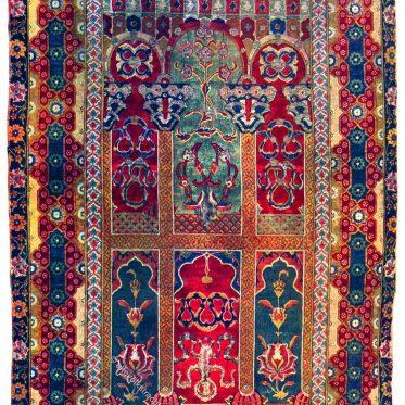Gebetsteppich aus Persien des 16. Jahrhunderts.
