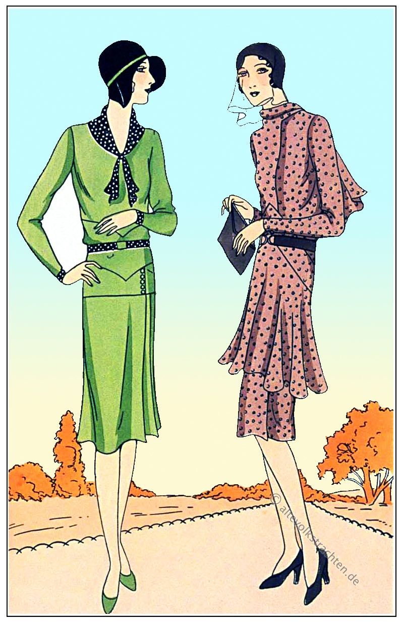 Redfern, art-deco, Mode, Kostüme, Haute couture