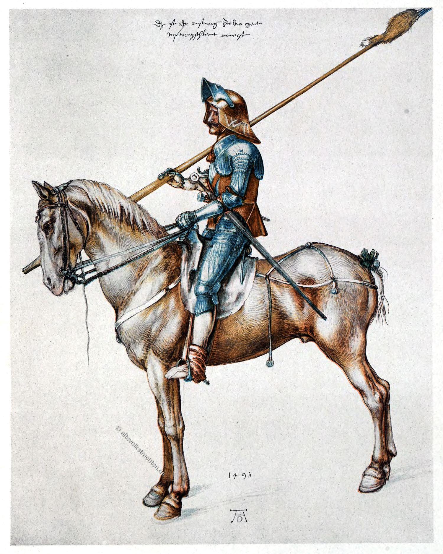 Albrecht Dürer, Rüstung , Ritter, Reiter, Renaissance