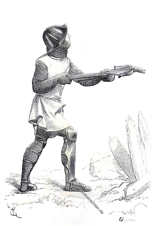 Armbrustschütze, Technik, Fernwaffe, Mittelalter