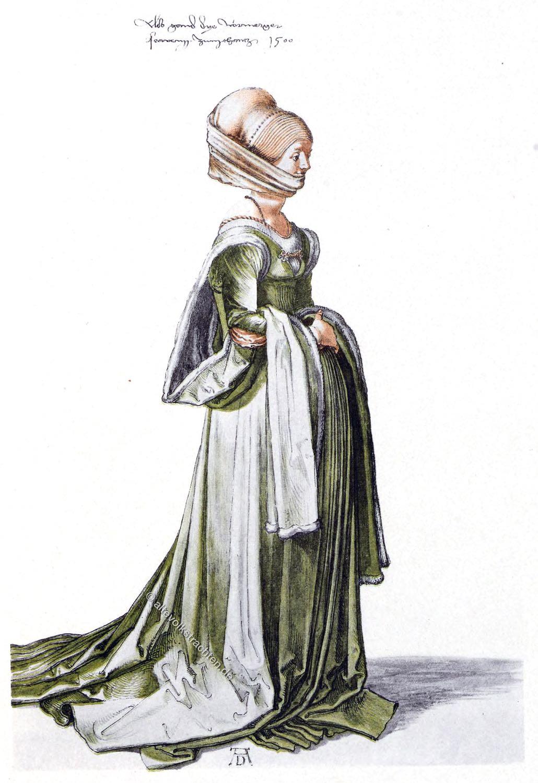 Albrecht Dürer, Schleppkleid, Renaissance, Mode