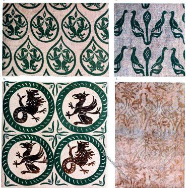 Bedruckte Seidenstoffe aus Deutschland im Mittelalter.