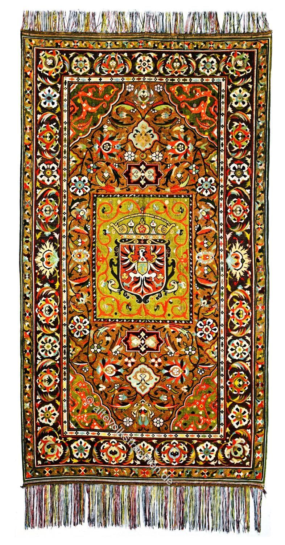 Polenteppich, Persien, Antik, Persischer Seidenteppich, Gobelintechnik,