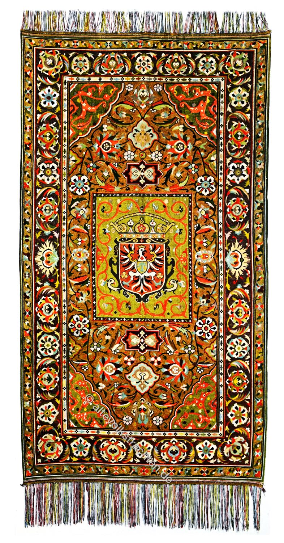 Persien, Antik, Persischer Seidenteppich, Gobelintechnik,
