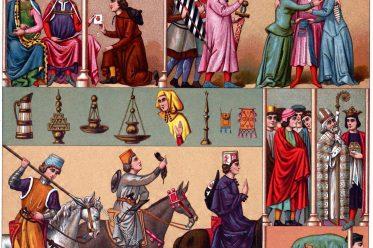 Kastilien, Spanien, Trachten, Mittelalter