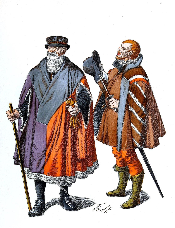 Bürgermeister, Stadtknecht , Köln, Mittelalter, Trachten, Kleidung