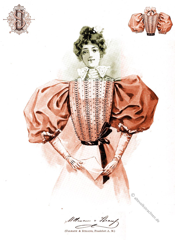 Theaterbluse, Mode, Belle Époque, Gründerzeit,