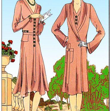 Les Créations Parisiennes. Tollmann Mode 1929. Marokkanische Garnitur.