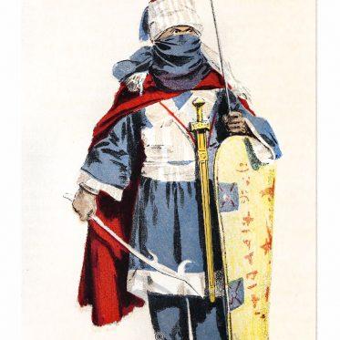 Ein Krieger der Tuareg um 1882. Nomade der Sahara.