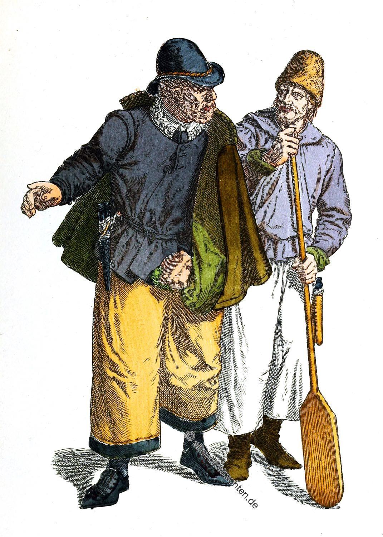 Trachten, Westfriesland , Schiffsherr, Kahnführer,