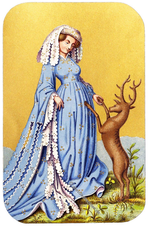 Spielkarte, Mittelalter, Zatteltracht, Gotik