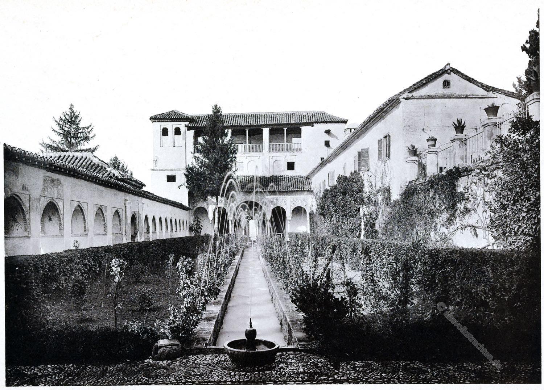 Alhambra, Patio Principal, Granada, Architektur, Baukunst, Maurischer Stil