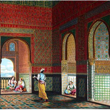 Die Alhambra in Granada. Baukunst Spaniens. Maurischer Stil.
