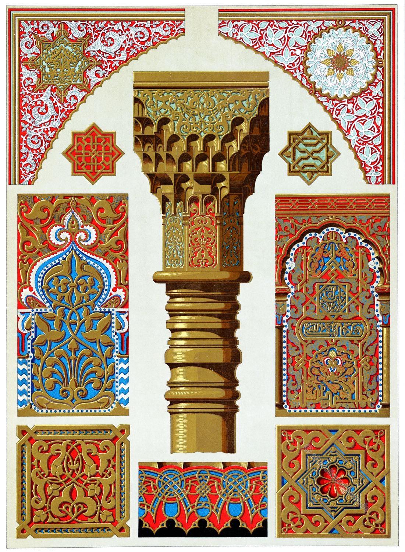 Ornamente, Dekor, Alhambra, Granada, Architektur, Baukunst, Maurischer Stil