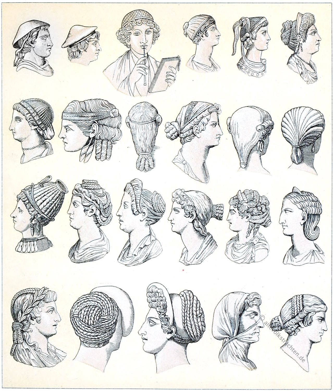 Rom, Kopfbedeckungen, Haartrachten. Frisuren, Antike, Mode, Geschichte