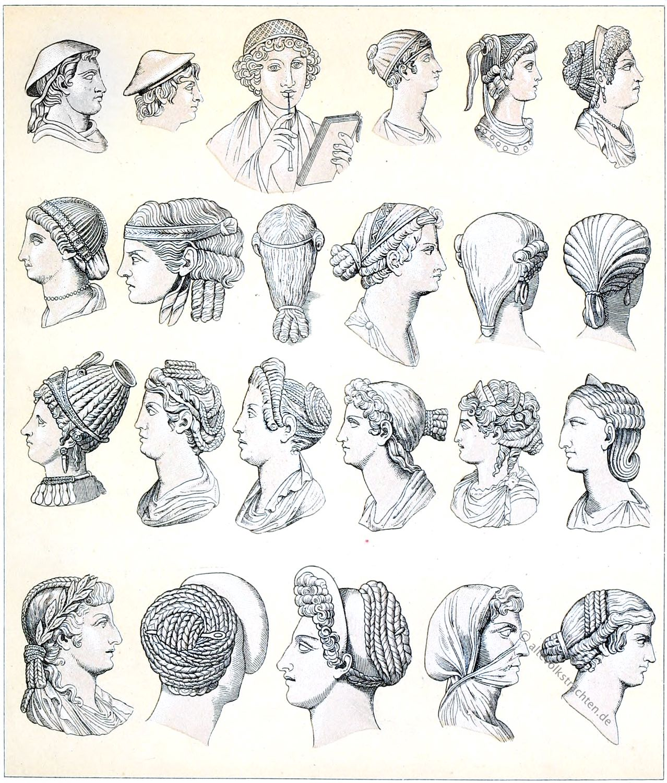 rom, Haartrachten. Frisuren, Antike, Mode, Geschichte