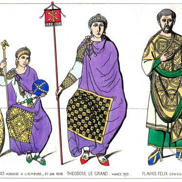 Oströmische Kaiser Arcadius, Theodosius I. General Flavius Felix.