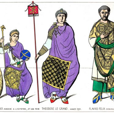 Kostüme Oströmischer Kaiser. Arcadius, Theodosius I. Flavius Felix.