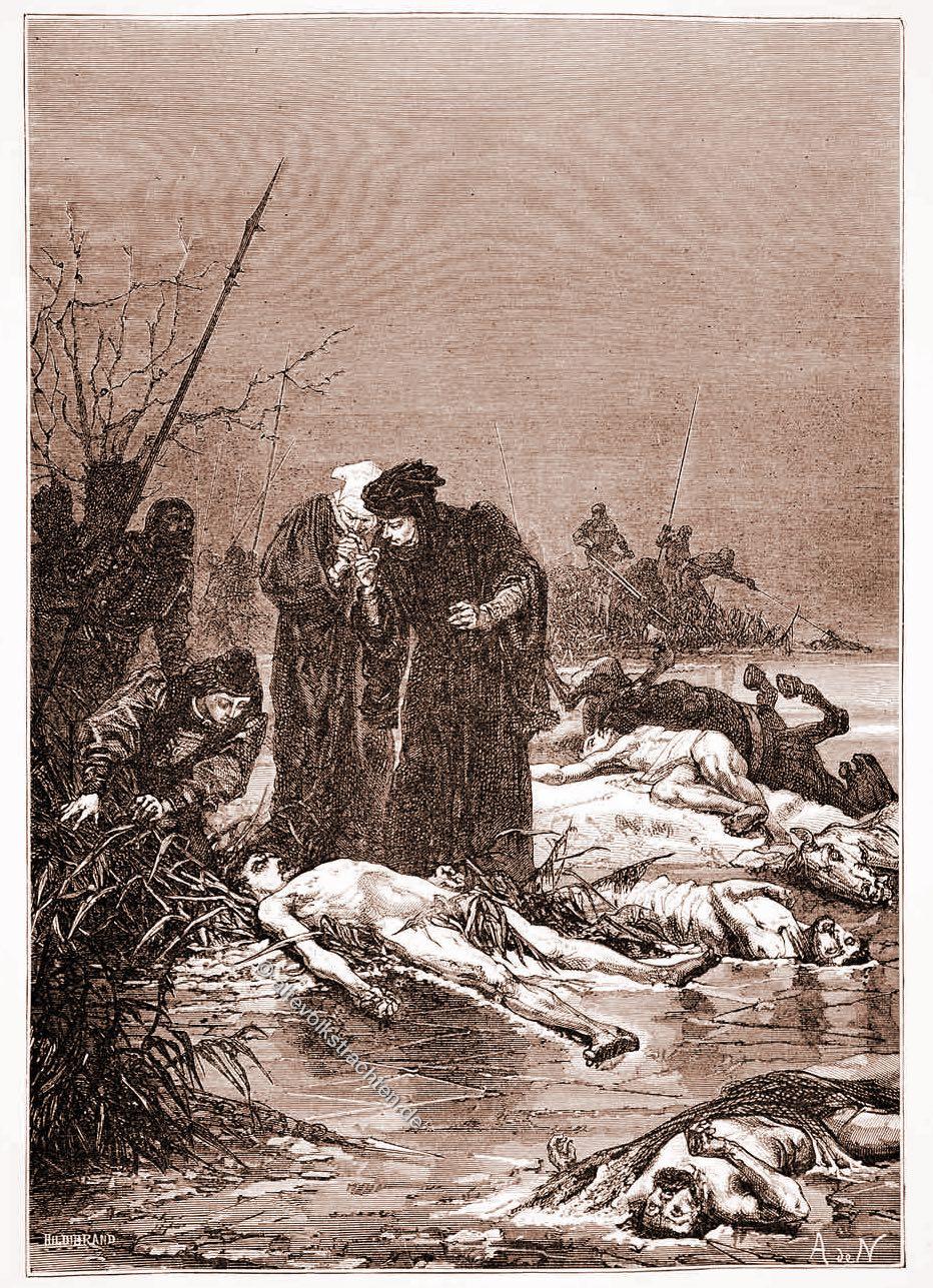 Alphonse, Neuville, Charles the Bold, Leichnam, Karl, der Kühne,