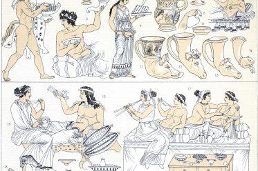 Tischsitten, Griechenland, Antike, Mobiliar, Gelage, Mahlzeiten