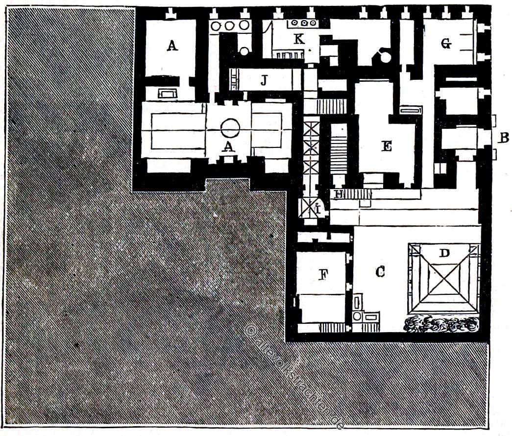 Grundriss, Haus, Kairo