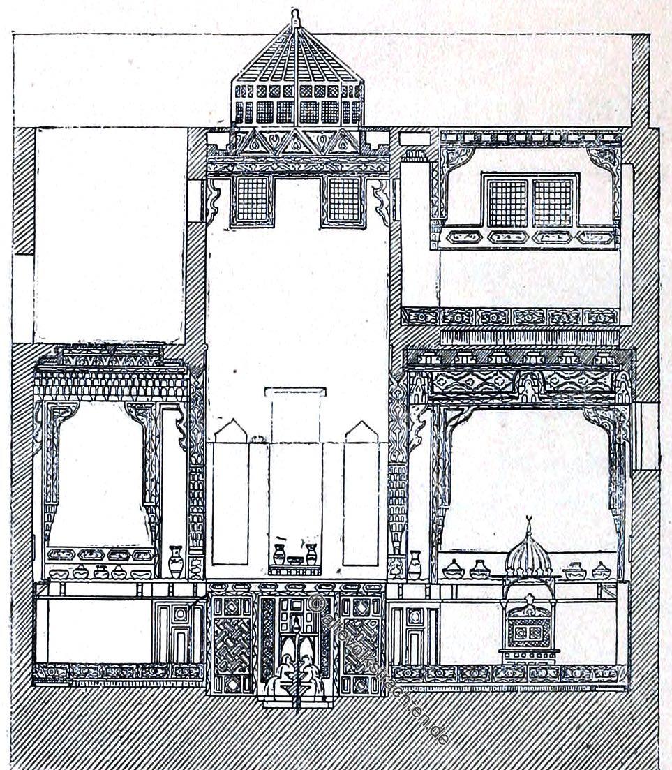 Haus, Sommersaal, Kairo, Ägypten, Architektur