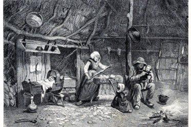 Holzschuhherstellung, Holzschuhe, Herstellung, Bretagne