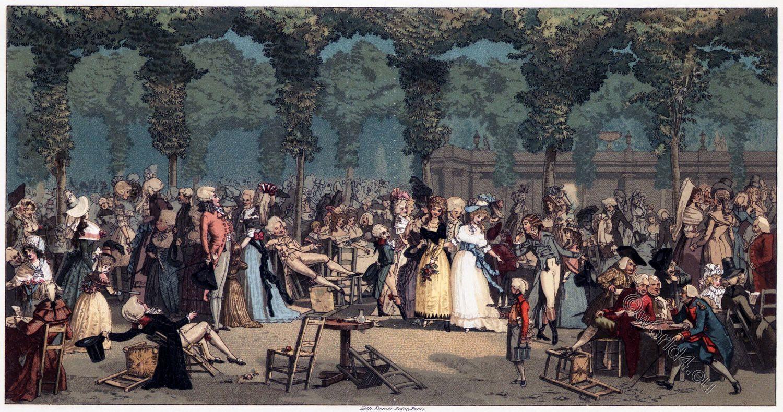Palais-Royal, Direktorium, französische Revolution, Kostüm, Mode