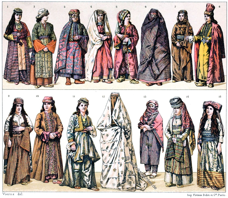 Türkei, Trachten, Vilajets, Racinet, Kleinasien