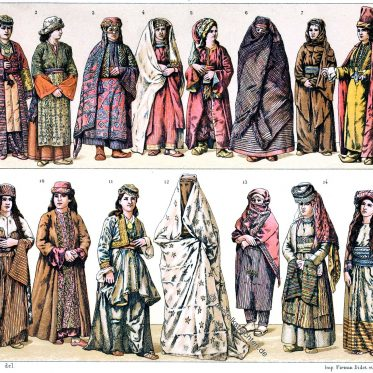 Türkei. Trachten aus Kleinasien. Osmanisches Reich.