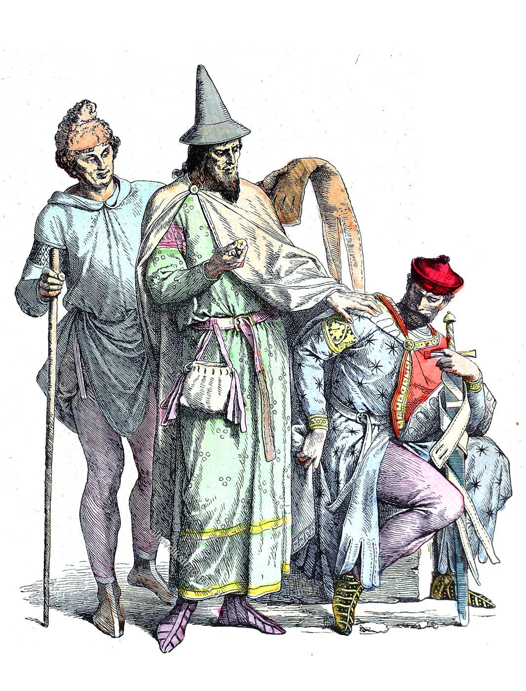 Münchener Bilderbogen, Mittelalter, Kostüme, Modegeschichte, Jude, Ritter,