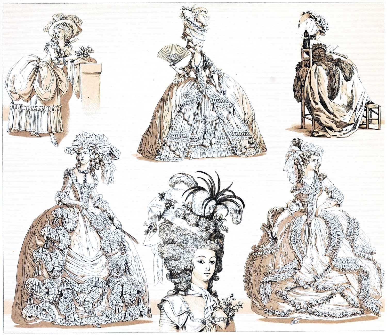 Rokoko, Hofkleidung, Versailles, Staatsrobe, Reifrock