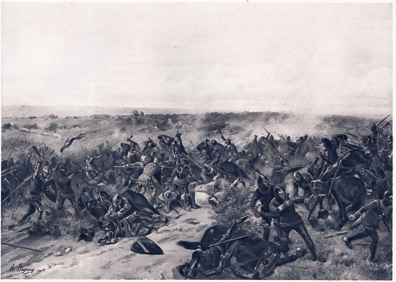 Schlacht, Crécy, Ritter, Kampf