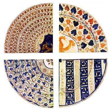 Spanisch-maurische Ornamentik des 15. Jh. Islamische Töpferei.