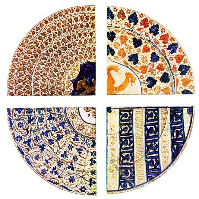 Teller, Töpferei, spanisch-maurisch, Ornamentik, Heraldik