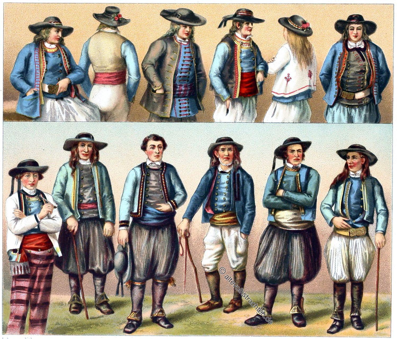 Trachten, Finistère, Bretagne, Châteauneuf-du-Faou, Carantec, Douarnenez, Quimper, Plonévez-Porzay, Scaër, Plogonnec, Langolen