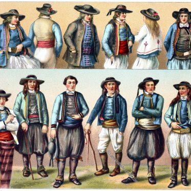 Französische Trachten der Bretagne, Department Finistère.
