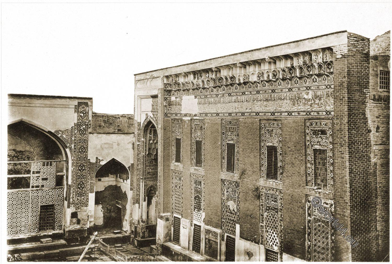 Moschee, Gebetsraum, Ardabil, Fassade, Scheich, Safi ad-Din, Baukunst, Persien, Gebetsraum,