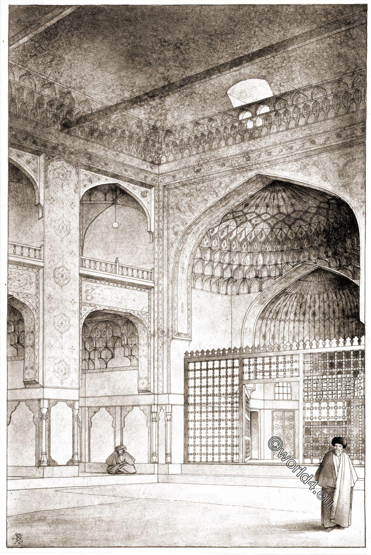 Moschee, Ardabil, Scheich, Safi ad-Din, Baukunst, Persien, Gebetsraum, Innenansicht
