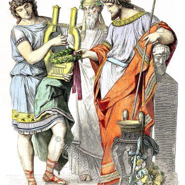 Bacchus Priester des antiken Griechenland, König.
