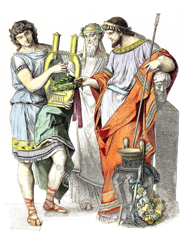 Münchener Bilderbogen, Antike, Griechenland, Kostüme, Kleidung