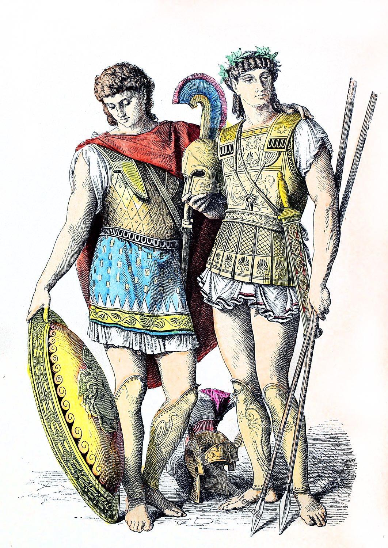 Münchener Bilderbogen, Krieger, Antike, Hoblit, Heerführer, Kostüm, Rüstung,
