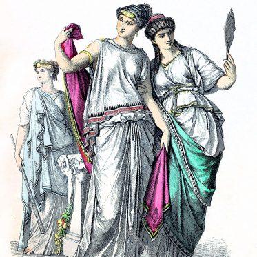 Griechenland der Antike. Priesterin. Vornehme Griechinnen.